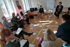 uczestnicy podczas warsztatu