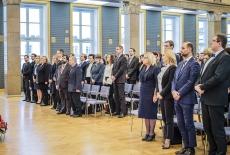 Uroczystość ślubowania nowych urzędników służby cywilnej