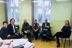 Uczestnicy spotkania podczas warsztatu