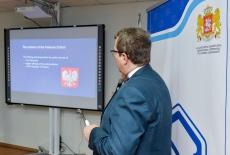 dyrektor KSAP podczas prezentacji