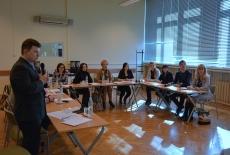 Przedstawiciele Charkowskiego Regionalnego Instytutu Administracji Państwowej podczas zajęć