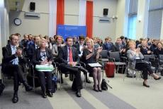 Uczestnicy konferencji w auli KSAP