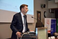 Mariusz Jedynak, Członek Zarządu ZUS przemawia przy mównic