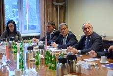 Przedstawiciele delegacji Armenii podczas spotkania