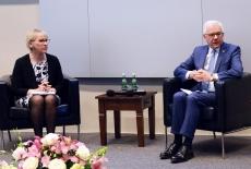 Ministrowie spraw zagranicznych Polski i Szwecji podczas debaty