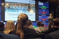 Słuchacze KSAP podczas wykładu na Giełdzie Papierów Wartościowych