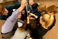 uczestnicy projektu podczas warsztatów