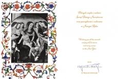 Kartka świąteczna z życzeniami od Dyrektora KSAP