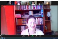 zrzut ekranu z uczestniczką spotkania
