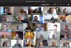 uczestnicy projektu podczas zajęć online