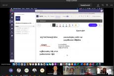 zrzut ekranu z prezentacją i uczestnikami szkolenia