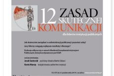 zaproszenie na spotkanie 12 zasad skutecznej komunikacji dla liderów instytucji publicznych