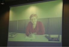 Wyświetlona na rzutniku Pani Agnieszka Kaźmierczak Dyrektor ds. Koordynacji Audytu Wewnętrznego Komisji Europejskiej