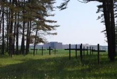 Widok na polane i krzyże