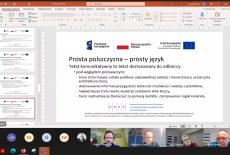 zrzut ekranu z zajęć online