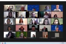zrzut ekranu z uczestnikami seminarium