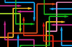 kolorowe strzałki prowadzące w różne kierunki