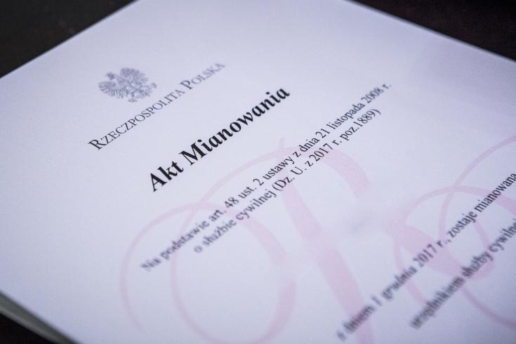 Akt mianowania urzędnika służby cywilnej