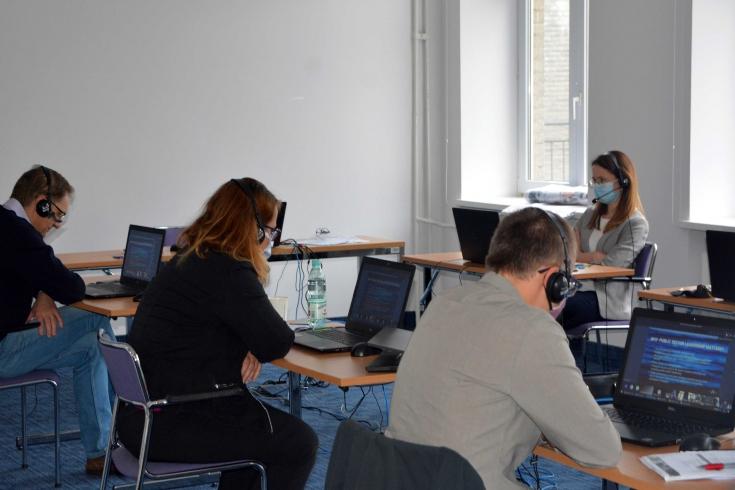 Uczestnicy projektu podczas zajęć