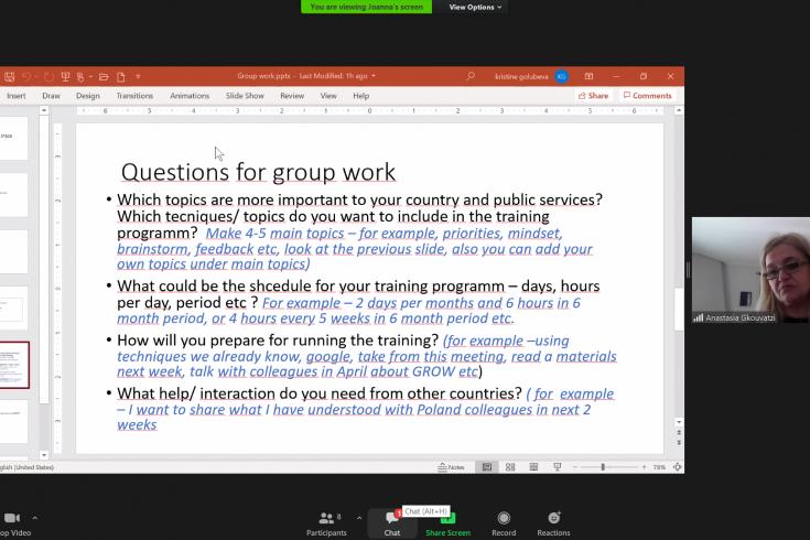 zrzut ekranu z prezentacją