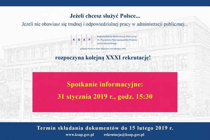 Ogłoszenie o rekrutacji do KSAP.