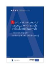 Okładka publikacji Analiza skuteczności narzędzi wybranych polityk publicznych
