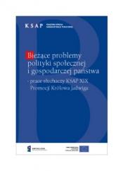 Okładka publikacji Bieżące problemy polityki społecznej i gospodarczej państwa