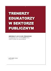 okładka publikacji - górna część na bordowym tle tytuł publikacji, dolna część na białym tle podtytuł