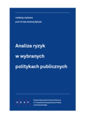 okładka publikacji - biały tytuł na granatowym tle