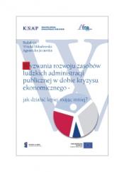 Okładka publikacji Wyzwania rozwoju zasobów ludzkich administracji publicznej w dobie kryzysu ekonomicznego