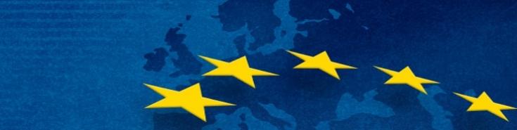 Wycinek flagi UE